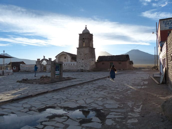 Church sunset in Bolivia