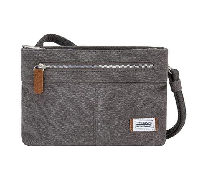 Canvas anti-theft purse