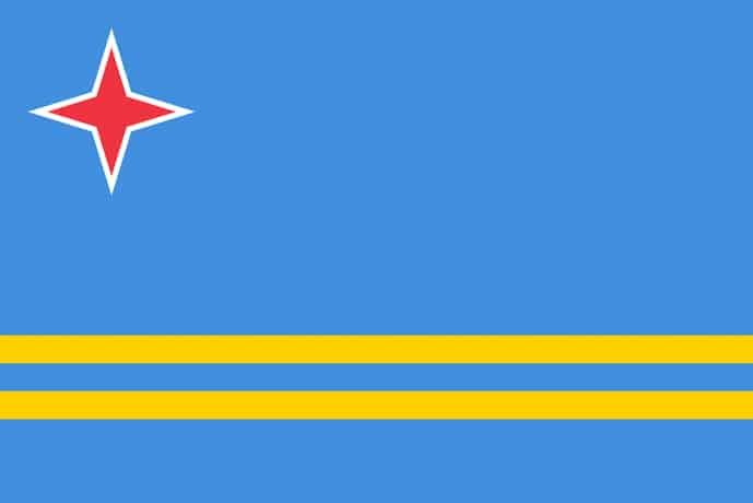 Flag of Aruba, Territory of the Netherlands