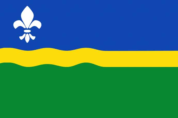 Flag of Flevoland, province of the Netherlands