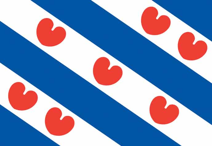 Flag of Friesland, province of the Netherlands