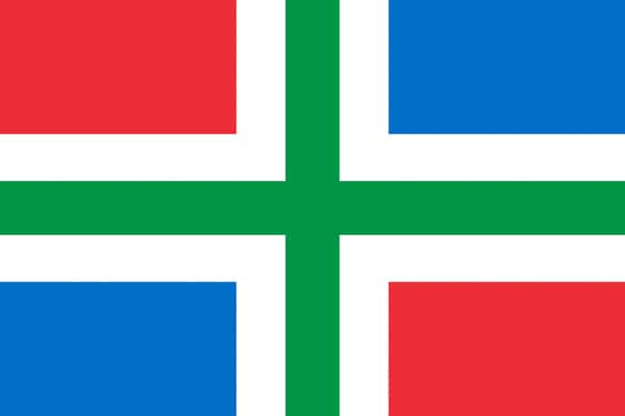 Flag of Groningen, province of the Netherlands
