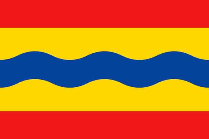 Flag of Overijssel, province of the Netherlands