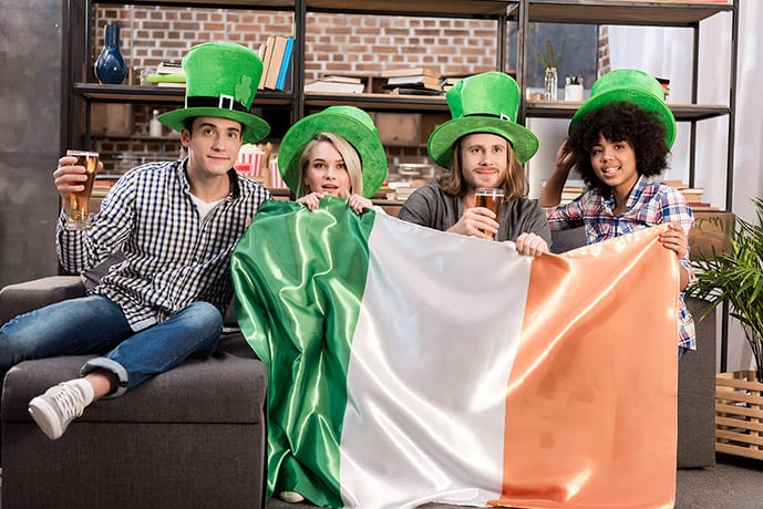 Facts about Ireland: Friends with Irish flag