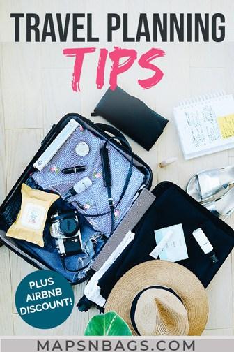 Travel tips Pinterest graphic