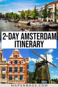 2 days in Amsterdam Pinterest graphic
