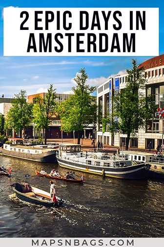 2 days in Amsterdam Pinterest graphic