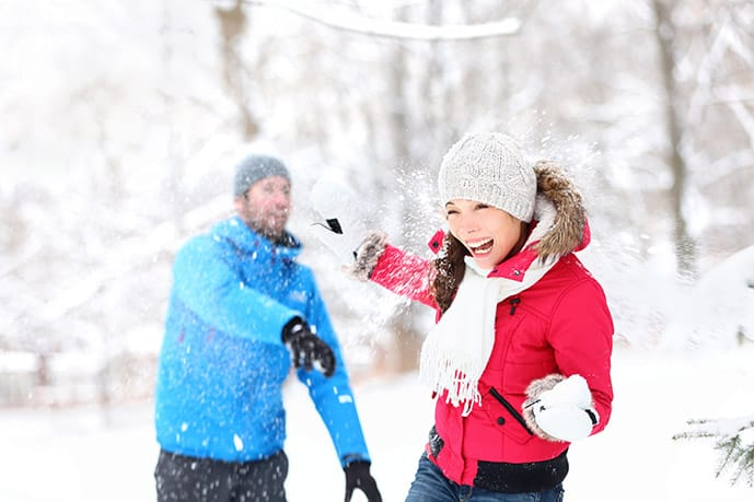 Winter bucket list: snowball fight