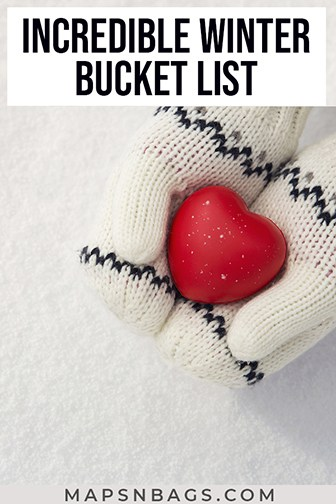 Things to do in the winter Pinterest graphic