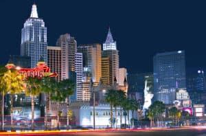 Vegas skyline at night