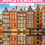 One day in Amsterdam Pinterest graphic