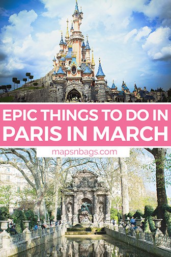 Paris in March Pinterest graphic