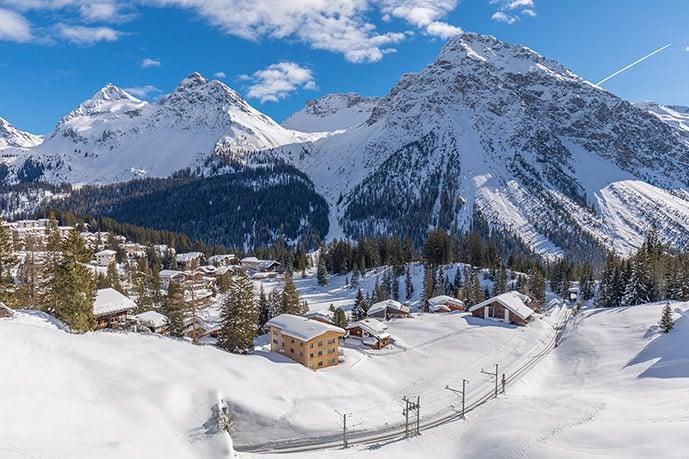 Arosa, Switzerland in winter