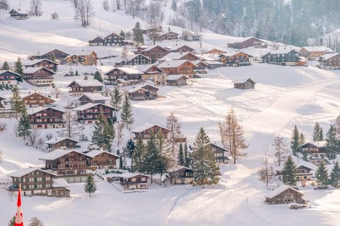 Beautiful town in the Jungfrau region