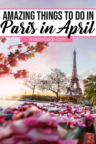 Paris in April Pinterest graphic