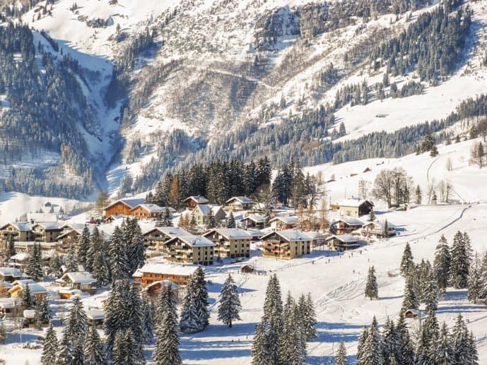 Skiing area in St Gallen