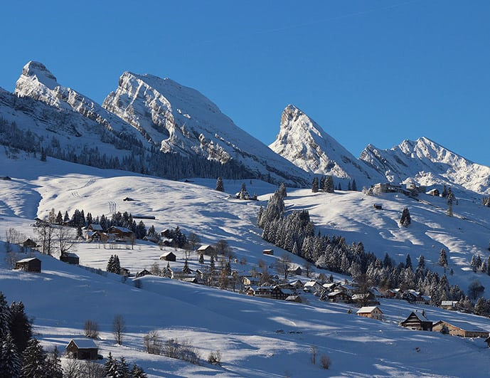 Churfirsten range in Switzerland in December