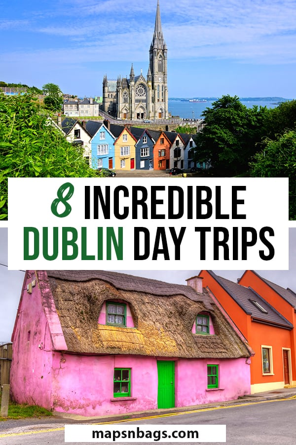 Day trips from Dublin Pinterest graphic
