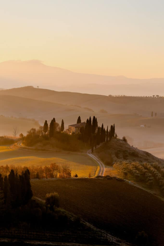 Hills in Tuscany, Italy
