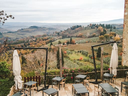 Romantic view in Tuscany, Italy