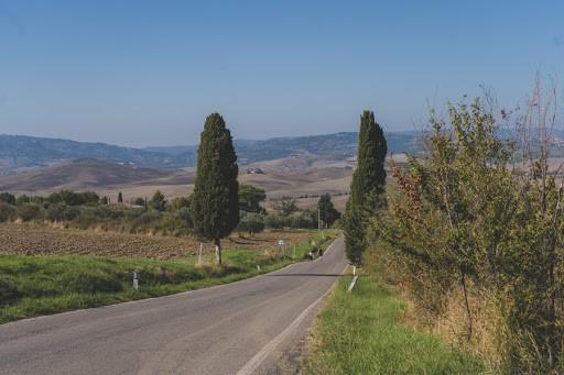 Romantic road in Tuscany, Italy