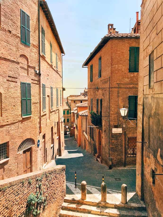 Romantic streets in Tuscany, Italy