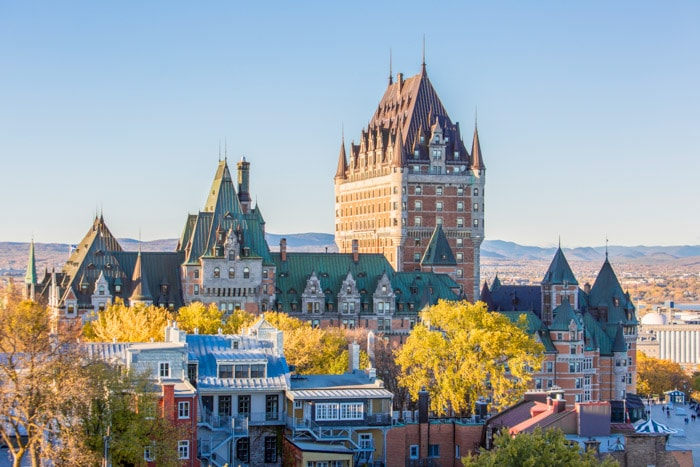 The Frontenac Castle in Old Quebec City
