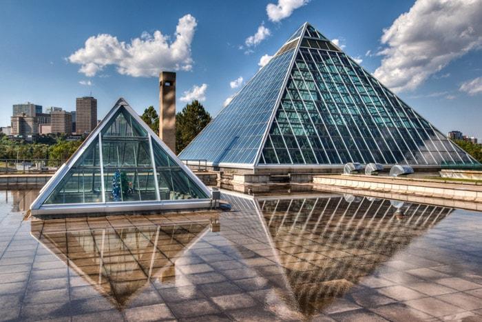 Glass Pyramids in Edmonton, Alberta
