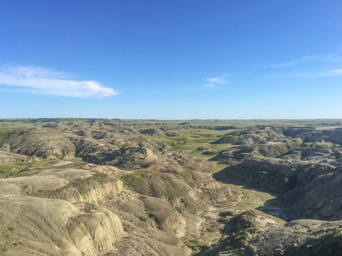 Valley of 1000 Devils Route in Grasslands National Park, Canada