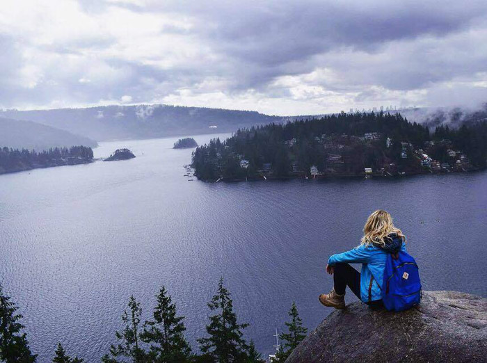 View from Quarry Rock in Deep Cove, Canada