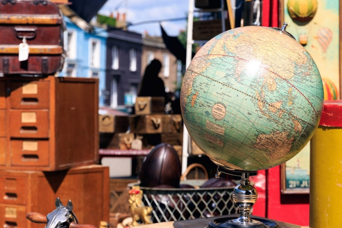 Vintage globe in London