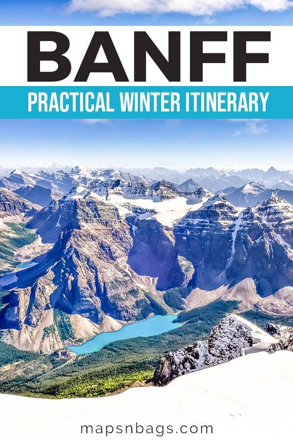 Banff in winter: Banff itinerary Pinterest graphic