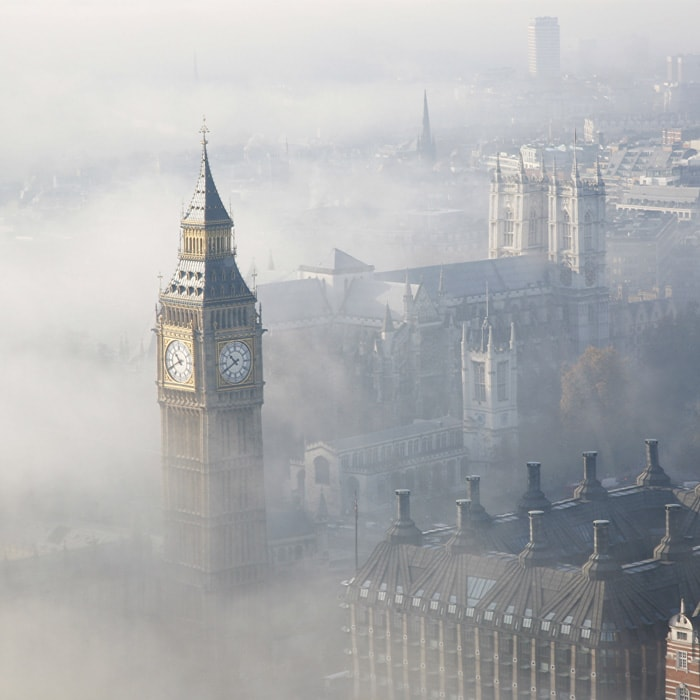 Foggy London full of hidden spots