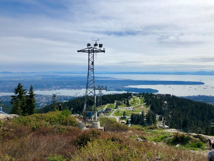 Grouse Grind View over Vancouver Canada