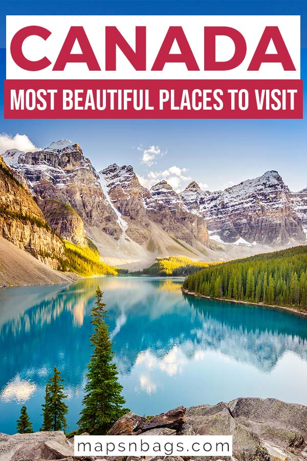 Most beautiful places in Canada Pinterest graphic