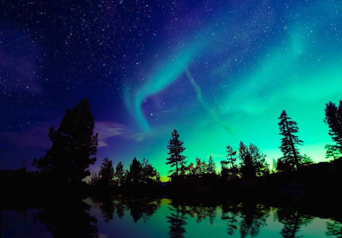 Northern Lights in Yellowknife, Canada