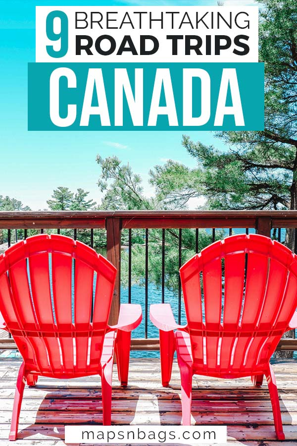 Road trips in Canada Pinterest graphic