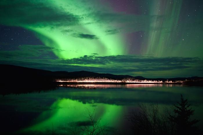 Northern Lights in Whitehorse, Yukon