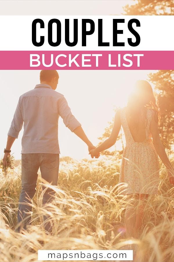 Couples bucket list Pinterest graphic