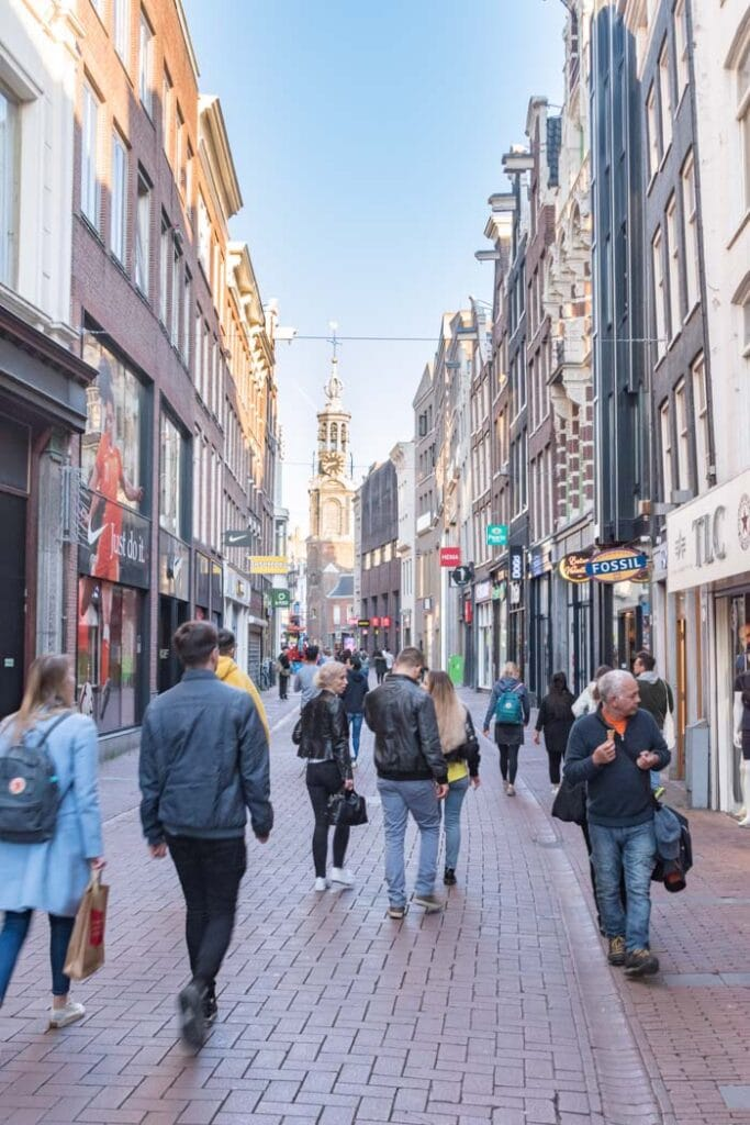 Kalverstraat is a busy street in Amsterdam