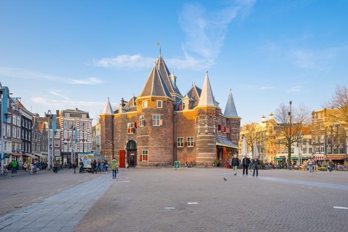 Nieuwmarket street in Amsterdam