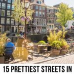 Beautiful streets in Amsterdam Pinterest graphic