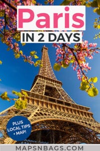 2 days in Paris itinerary Pinterest graphic