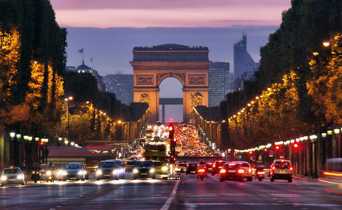 Things to do in Paris in 2 days, visit the Champs-Elysees and Arc de Triomphe