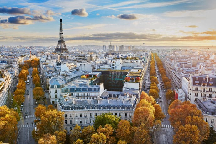 Paris in 2 days itinerary, fall in Paris