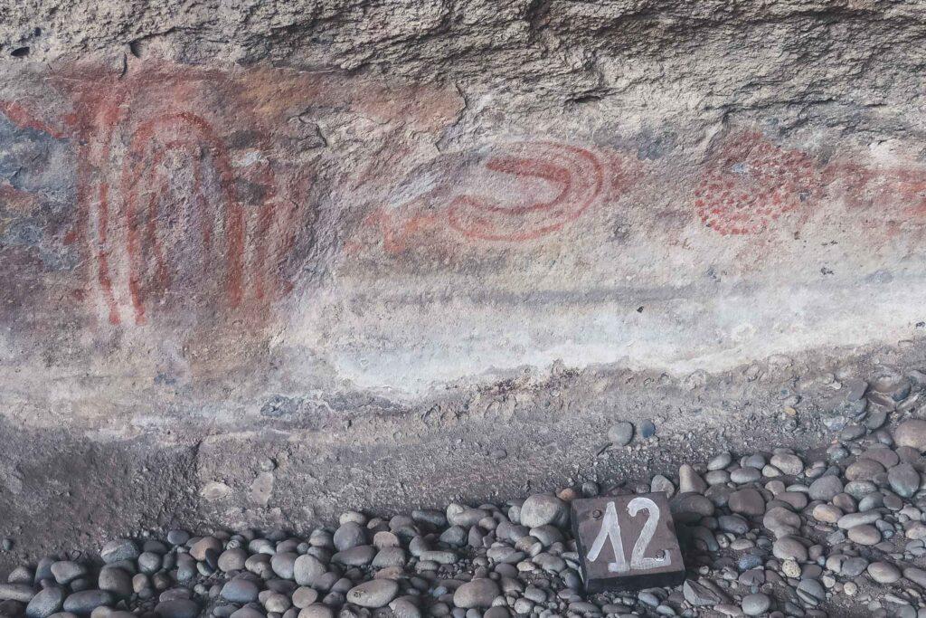 Cave paintings in El Calafate, Argentina