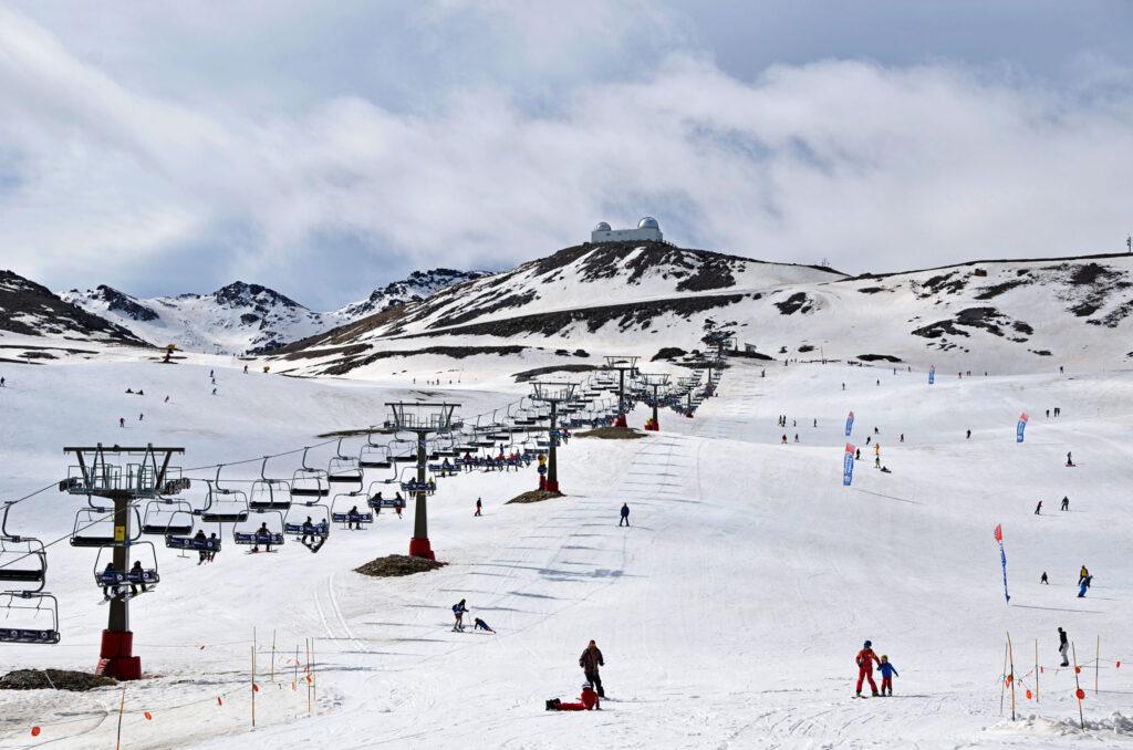 Skiing in Sierra Nevada, Spain