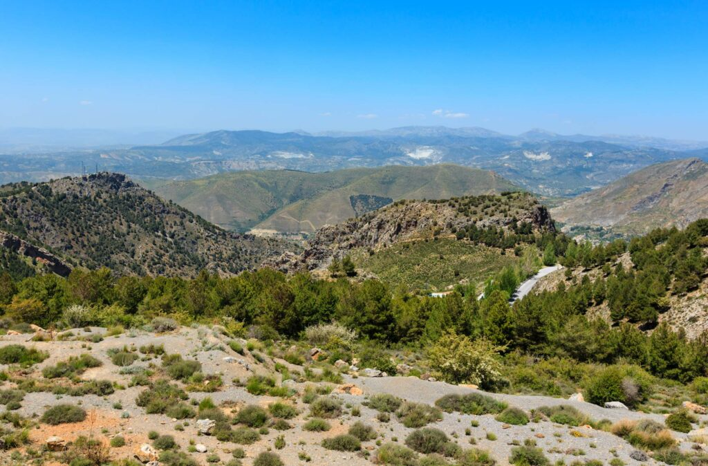 Mountains landscape in Sierra Nevada, Spain