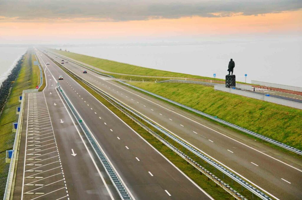 Afsluitdijk is one of the Dutch landmarks