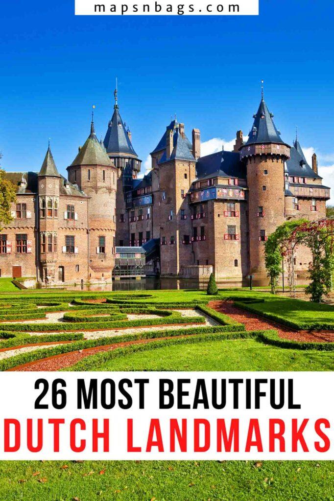 Landmarks in the Netherlands, Pinterest Graphic